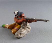 Elastolin Preiser - Indiens - Piéton tireur fusil derrière rocher (réf 6834)