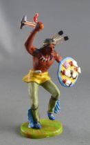 Elastolin Preiser - Indiens - Piéton tomahawk et bouclier (réf 6816)