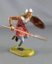 Elastolin Preiser - Middle age - Footed runing with spear & shield (red) (ref 8830)