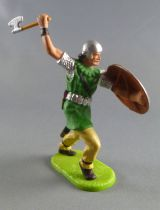 Elastolin Preiser - Moyen-âge - Piéton attaquant hache & bouclier (réf 8831)