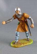 Elastolin Preiser - Moyen-âge - Piéton servant de catapulte (ocre) (réf 8835)