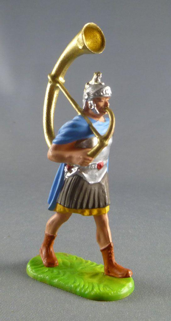 Elastolin Preiser - Romains - Piéton défilant cor (réf 8405)