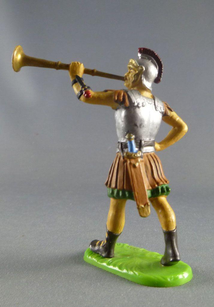 Elastolin Preiser - Romains - Piéton défilant trompette (réf 8404)