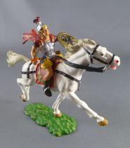 Elastolin Preiser - Romans - Mounted sword right hand yellow dress white horse (ref 8457)