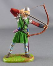 Elastolin Preiser - Vikings - Footed Archer shooting down (green) (ref  8647)