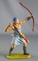 Elastolin Preiser - Vikings - Footed Archer shooting up (blue outfif) (ref 8644)