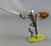Elastolin Preiser - XV / XVIII century - Swiss Guard Footed attacking with sword shield on back (ref 8939)