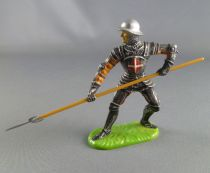 Elastolin Preiser - XV / XVIII century - Swiss Guard Footed defending with pike soft plastic (ref 8936)