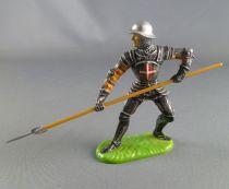 Elastolin Preiser - XV / XVIII century - Swiss Guard Footed defending with pike soft plastic (ref 8936)