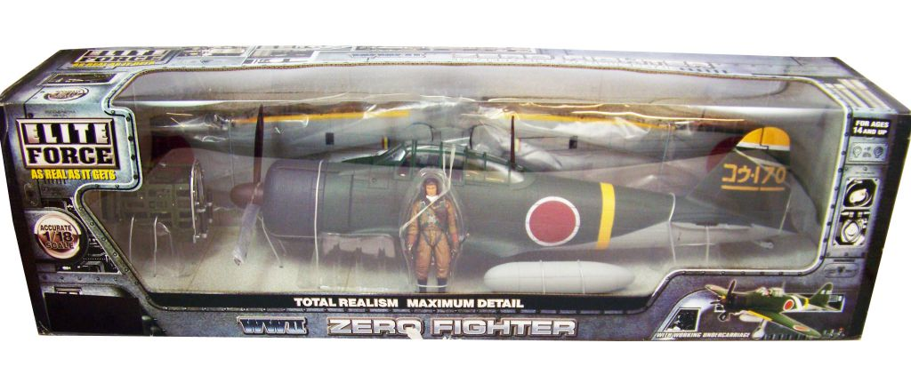 Elite Force 1 18 Toy : Elite force wwii zero fighter w pilot scale