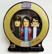 Elvis Presley - PEZ three-pack with CD collector tin box