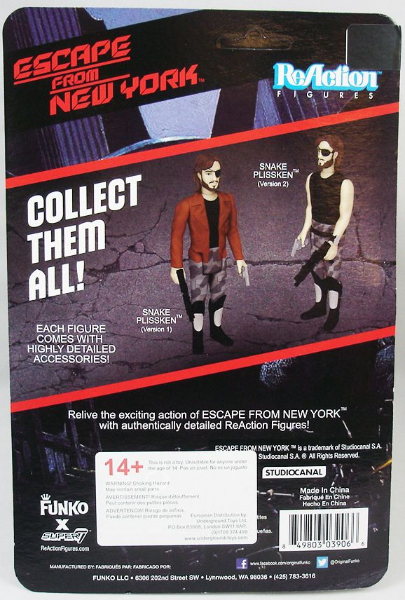 Escape from New York 1997 - ReAction Figure - Snake Plissken (1)