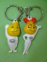 Esso Keychain Figure Drop Boy Drop Girl 1