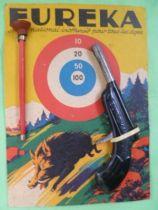 Eureka - Pistolet tir aux pigeons avec flechette neuve sur carte Cible