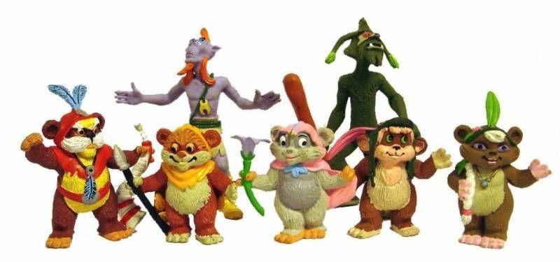 Ewoks - Set of 7 PVC  figures Comic Spain