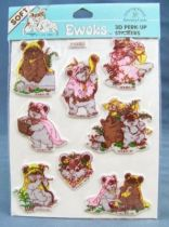 Ewoks 1983 - 3D Stickers Set (Drawing Board Greeting Cards Inc)
