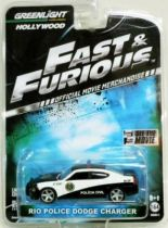 Fast & Furious - Rio Police Dodge Charger (métal 1:64ème) Greenlight Hollywood