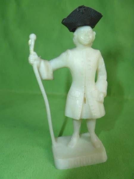 Figurine Publicitaire Bonux - Soldats de Louis XV - Officier (blanc)