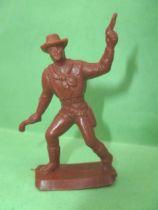 Figurine Publicitaire Café Legal Far West n° 51 Kid Booney (souple marron)