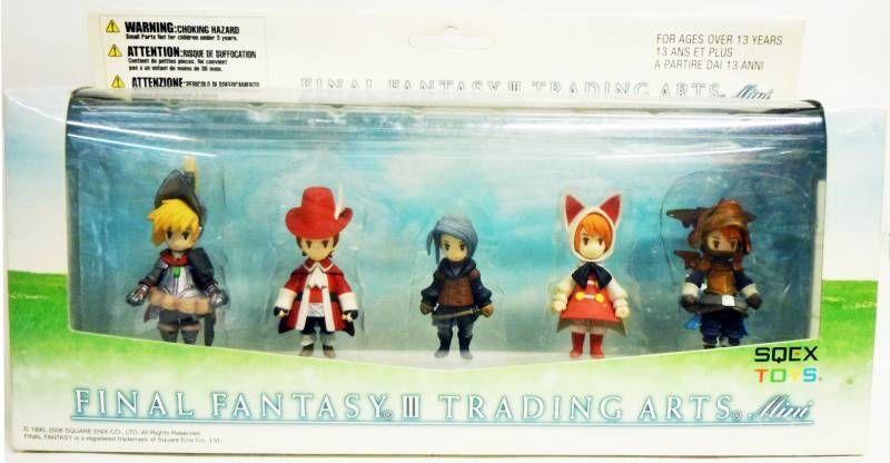 Final Fantasy III - Trading Arts Set of 5 Mini-Figures - Sqex Toys