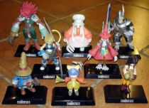 Final Fantasy IX - Compete set of 8 Bandai figures