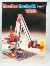 Fischertechnik - Catalogue Revendeur 1985