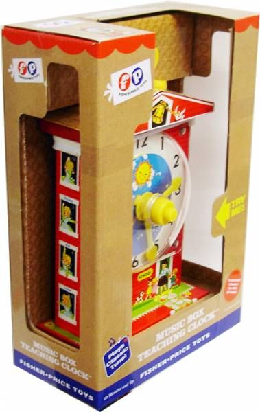 Classic Fisher Price Toys : Fisher price classic toys music box teaching clock