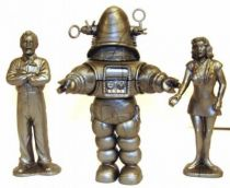 Forbidden planet Robby, Dr. Edward Morbius & Altaira Morbius - set of 3 plastic figures