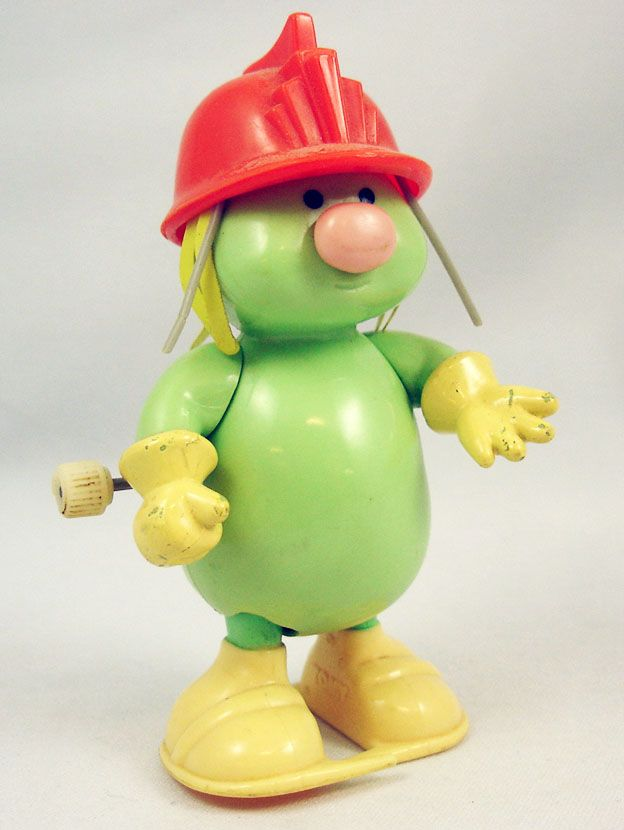 Fraggle Rock - Tomy - Doozer with orange helmet Wind-Up ...