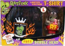 Funko - Rat Fink - Wacky Wobbler & T-Shirt Limited Edition set