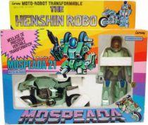 Gakken Lansay - Mospeada Scott Bernard Armor Bike Riding Suit Cyclone Henshin Robo DX
