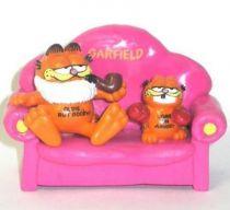 Garfield - Bully PVC Figure - Garfied as Opa on sofa with mini Boxer Garfield