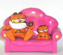 Garfield - Bully PVC Figure - Garfied as Opa on sofa with mini Hello Garfield