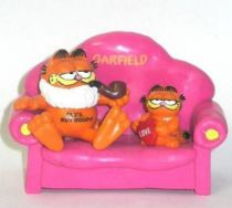 Garfield - Bully PVC Figure - Garfied as Opa on sofa with mini Love Garfield