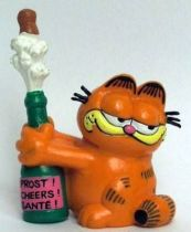 Garfield - Bully PVC Figure - Garfied with bottle