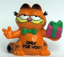 Garfield - Bully PVC Figure - Garfied with gift