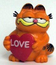 Garfield - Bully PVC Figure - Garfied with heart