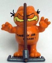 Garfield - Bully PVC Figure - Garfied with rake