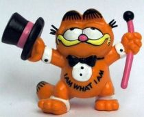 Garfield - Bully PVC Figure - Garfied with stick and gibus