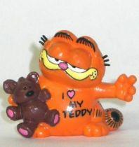 Garfield - Bully PVC Figure - Garfied with teddy bear