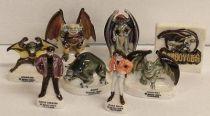 Gargoyles - set of 8 porcelaine figures