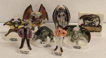 Gargoyles - set of 8 porcelaine figures