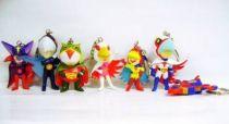 Gatchaman - Banpresto - Set of 7 Super-Deformed Figures Keychain