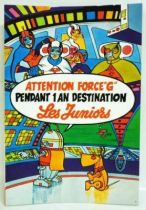 Gatchaman - Les Juniors (Entremont Cheeses) - Sticker Collector Poster