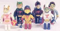 Gatchaman - Yujin - Set of 6 G-Force block figures