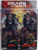 Gears of War 2 - Locust Drone & Locust Sniper - NECA Player Select figures