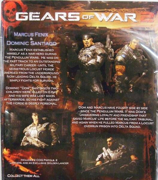 Gears of War 2 - Marcus Fenix & Dominic Santiago - NECA Player Select figures
