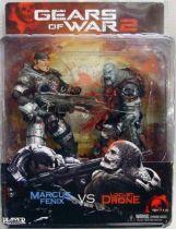 Gears of War 2 - Marcus Fenix vs Locust Drone - NECA Player Select figures