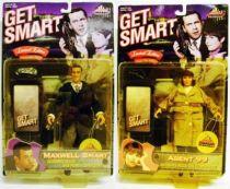 Get Smart - Maxwell  Smart, Agent 88 (Don Adams) & Agent 99 (Barbara Feldon) - Exclusive Premiere - Mint on card
