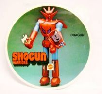 Getter Robo - Mattel Shogun Warriors - Dragun Promotional Sticker (round version) 1979